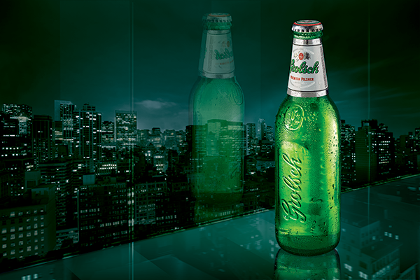 A new Grolsch recyclable bottle