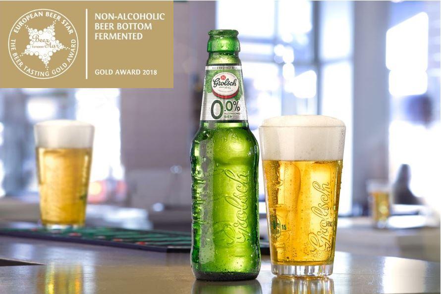 Grolsch 0.0% wint Gouden European Beer Star