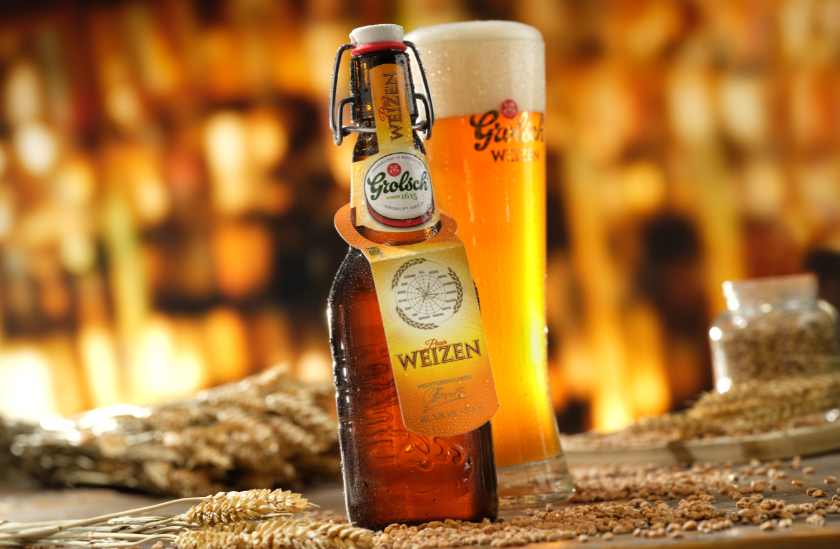 Grolsch 'Puur Weizen' is now available in the iconic, brown swing-top bottle